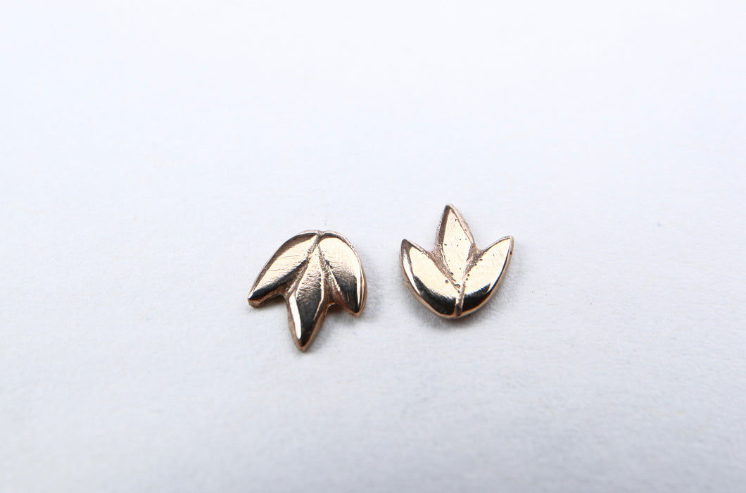 Smaller Gold Lotus Stud earrings