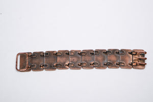 Bronze Etched beetles link bracelet