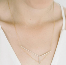 Load image into Gallery viewer, Axis necklace in silver and gold