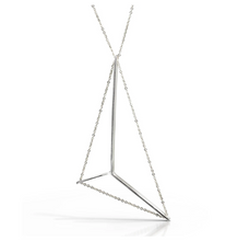 Load image into Gallery viewer, Mainsail necklace in sterling with silver chain