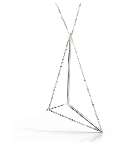 Mainsail necklace in sterling with silver chain