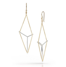 Load image into Gallery viewer, Victoria earrings in sterling and gold