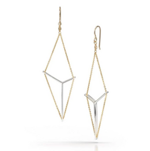 Victoria earrings in sterling and gold