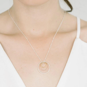 Delano Necklace in rose gold , silver, and gold