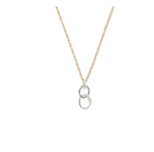 Load image into Gallery viewer, Small Sterling Organic Link Necklace with Gold fill Chain