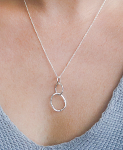 Large Sterling Organic Link Necklace