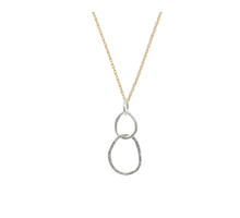 Load image into Gallery viewer, Large Sterling Organic Link Necklace with Gold fill Chain