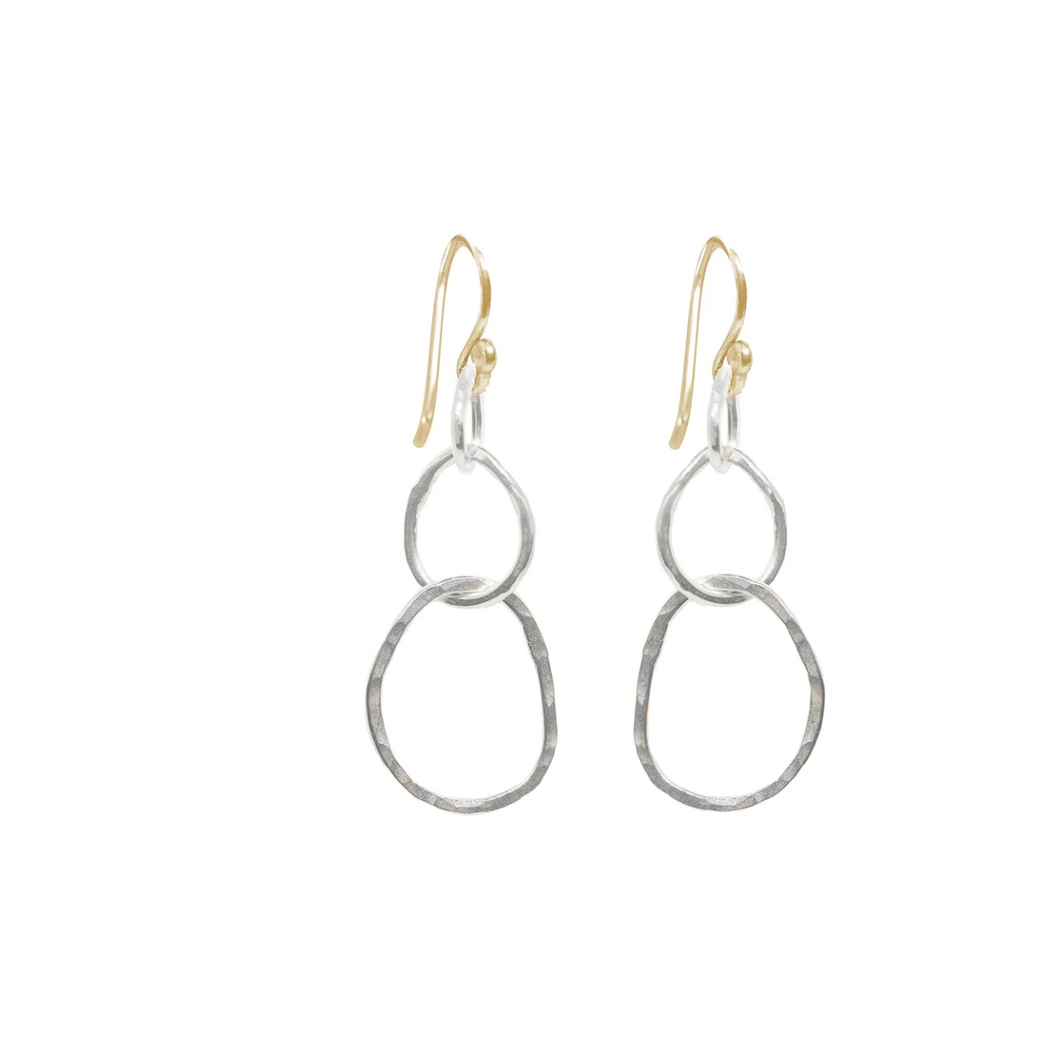 Large Organic Link Earrings with Goldfill earwires