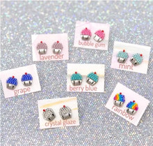 Load image into Gallery viewer, Cupcake Post Earrings
