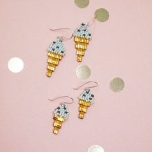 Load image into Gallery viewer, Mint Chocolate Ice cream Earrings