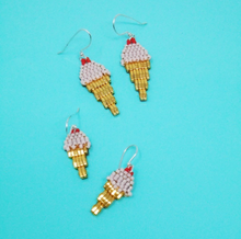 Load image into Gallery viewer, Strawberry Ice cream Earrings