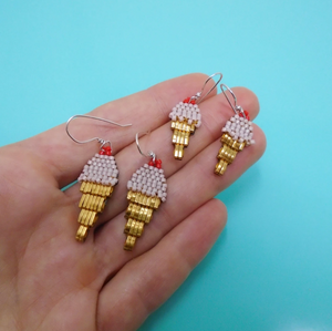 Strawberry Ice cream Earrings