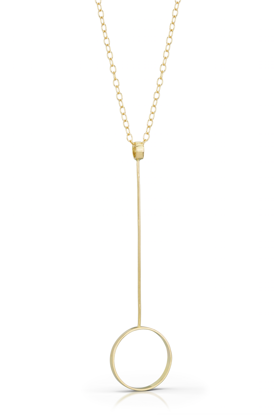 Drop Circle Pendant in Recycled 18k Gold