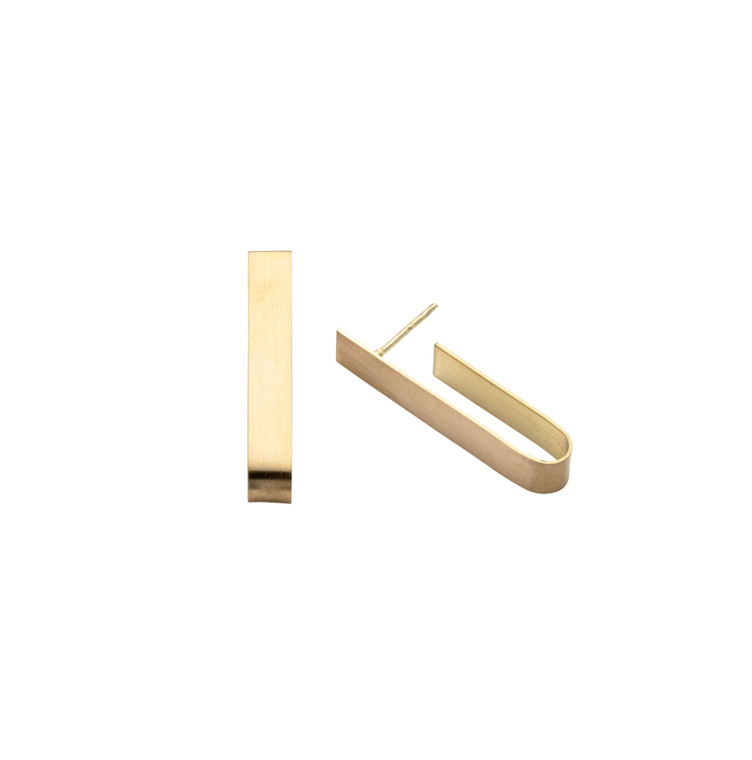 Tab Earrings in Recycled 18k Gold