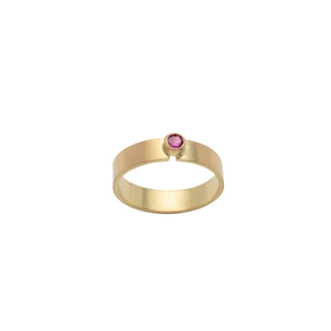 18k Recycled Gold Ruby Ring