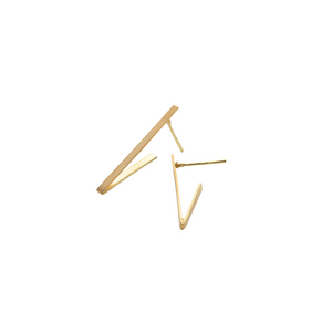 Small Triangle Earrings in Recycled 18k Gold