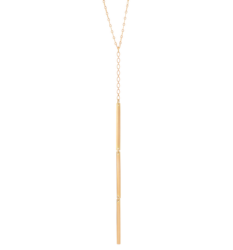 Triple Curved Bar Necklace in Recycled 18k Gold