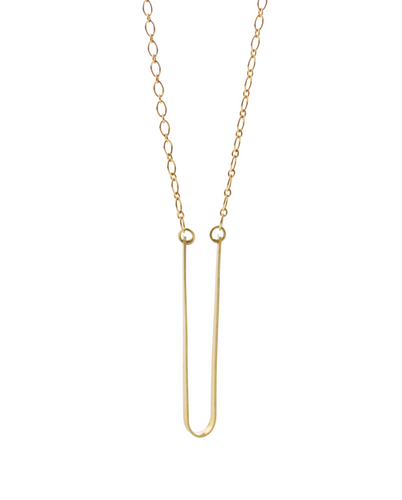 U Necklace in Recycled 18k Gold