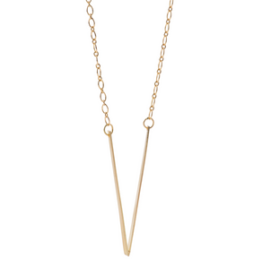 V Necklace in Recycled 18k Gold