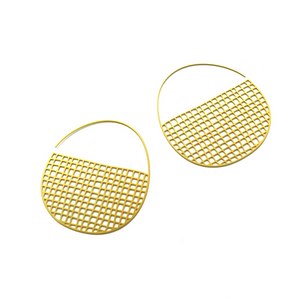 20k Gold Plated Tiny Basketweave Hoops