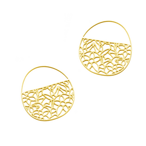 20k Plated Pattern no.1 Tiny Hoops