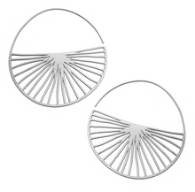 Load image into Gallery viewer, Radius Hoops in Stainless Steel or 20K Gold Plated