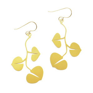 Small Vine 20k Gold Plated Earrings
