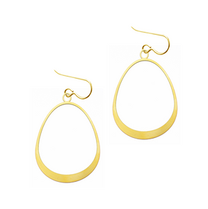 Small Oval 20k Gold Plated Earrings
