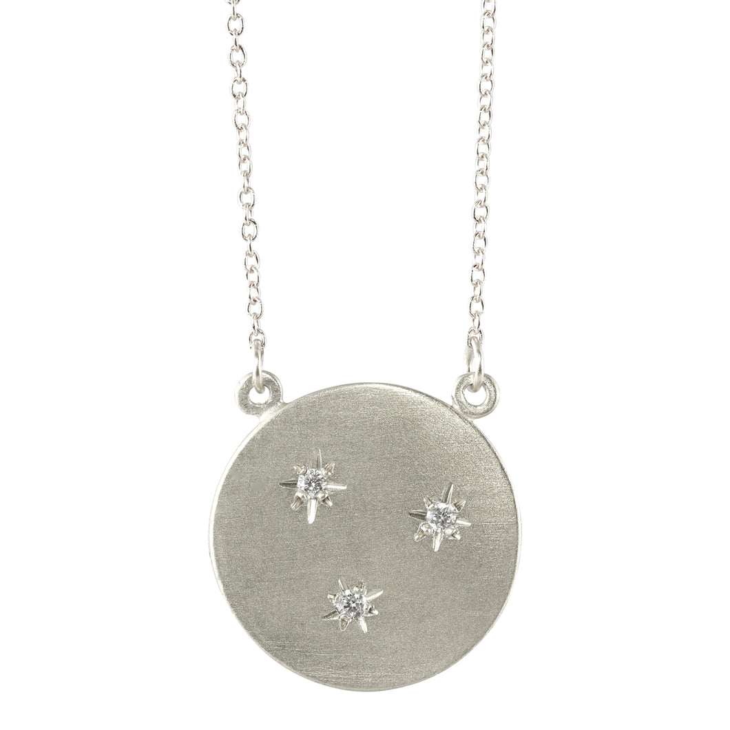 Sterling Silver Starry Sky Circle Necklace
