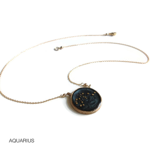Night Sky Astrological Necklace