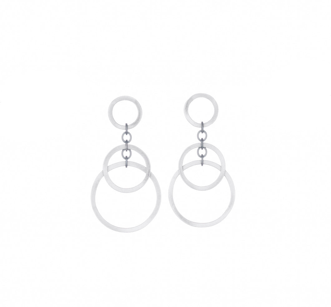 Small Circle Bunches Earring