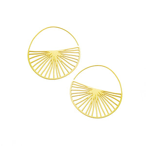 Radius Hoops in Stainless Steel or 20K Gold Plated