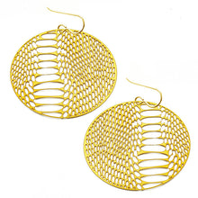 Load image into Gallery viewer, Oval Snake Skin Earrings