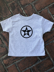 Youth Grey with Black Star T-Shirt
