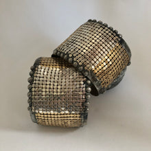 Load image into Gallery viewer, Brass cuff with Silver and gold plated mesh