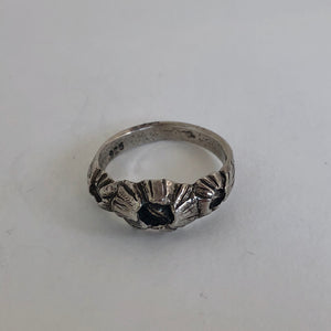 Tri-Barnacle Ring -Sterling Silver