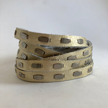Load image into Gallery viewer, Studded leather wrap bracelet