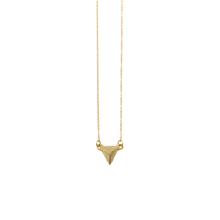 Load image into Gallery viewer, Solid 18k Gold Solitary Mountain necklace