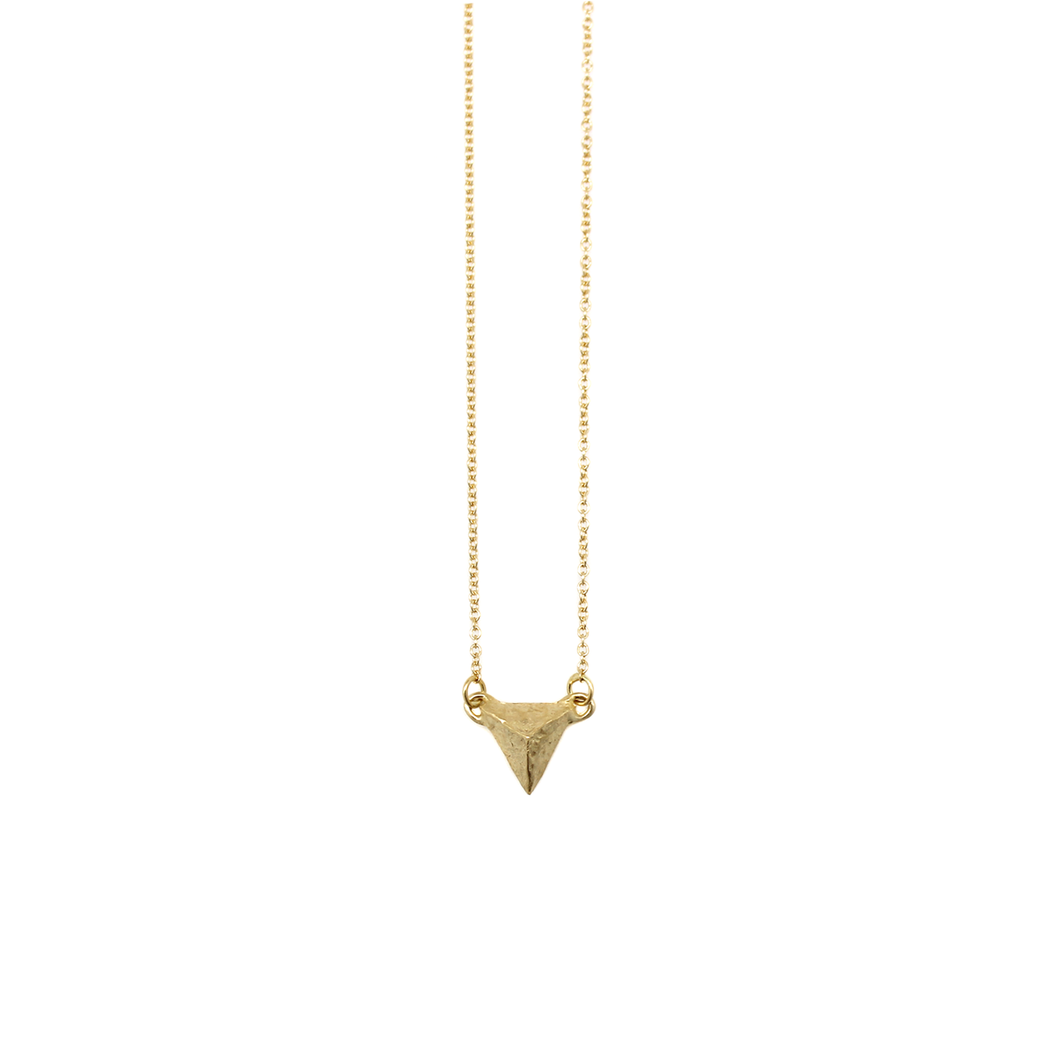 Solid 18k Gold Solitary Mountain necklace