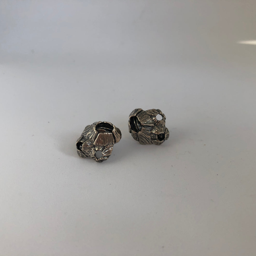 Large Barnacle Cluster Stud Earrings