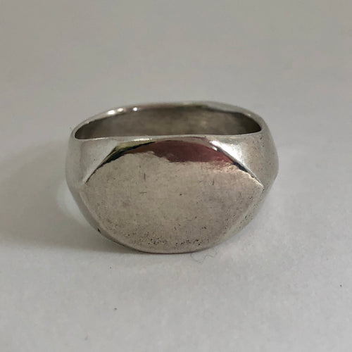 Plain Signet Ring- Sterling