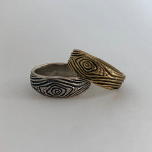Driftwood Band Ring- Sterling