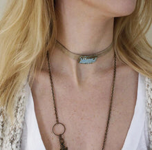 Load image into Gallery viewer, Rectangle Gem Wrap Choker