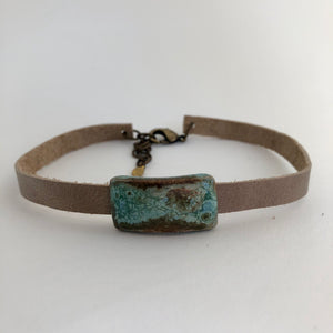 Rectangle Gem Wrap Choker