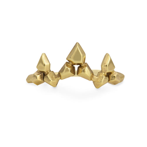 """Desert Crown"" ring in 10k gold"