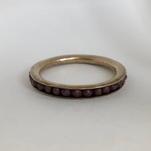 Bronze and Pearl Bangle Bracelet