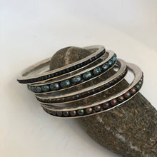 Load image into Gallery viewer, Sterling Silver Beaded Channel Bracelet