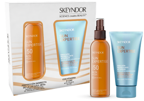 Skeyndor Set Sun Expertise Dry Oil Spray SPF 50 & After Sun Emulsion