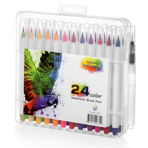Watercolor Brush Pen 24 Colors By Positive Art