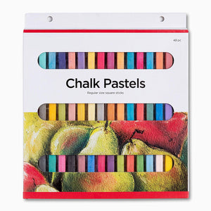 Chalk Pastel, Soft Colored Pastel, for Blending, Gradation, Texture and More 8 Vibrant Vivid Colors